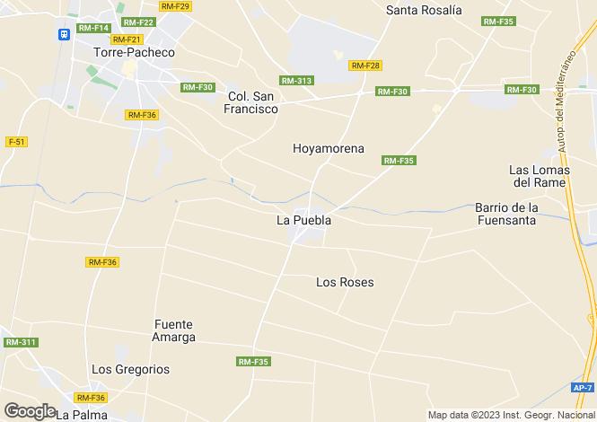 Map for La Puebla, Murcia, Spain