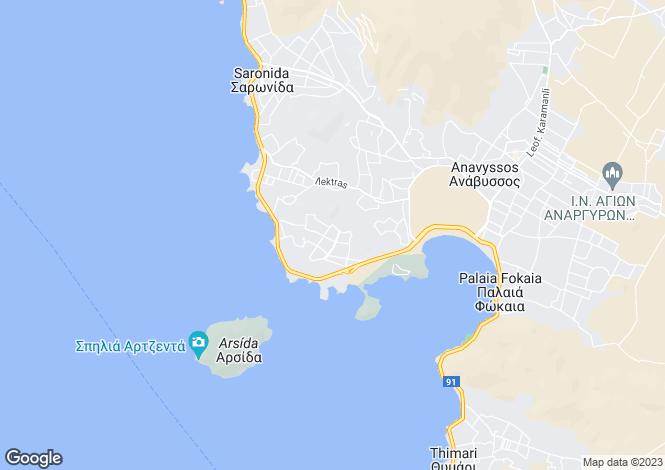 Map for Attica, Saronida