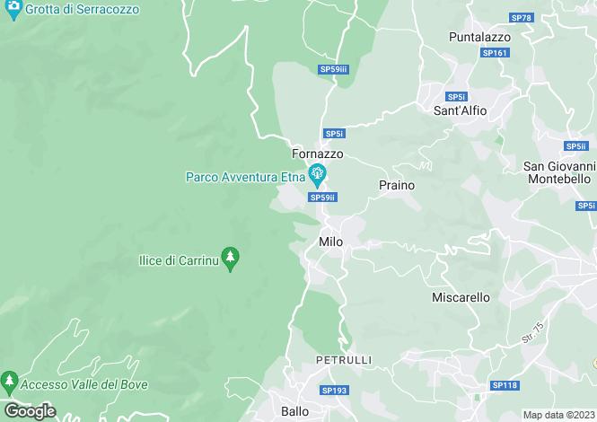 Map for Sicily, Catania, Milo