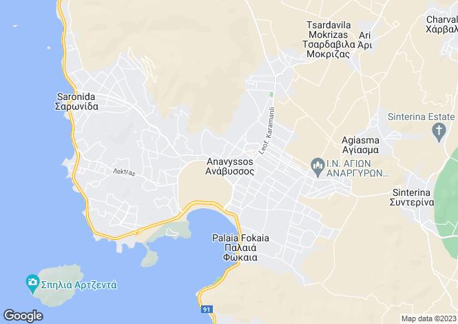 Map for Anavyssos, Attica