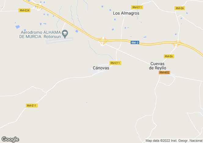 Map for Murcia, Cánovas