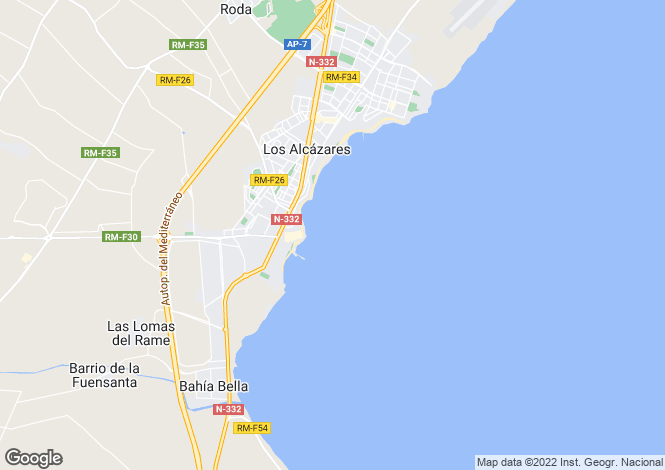 Map for Spain, Murcia, Los Alcázares