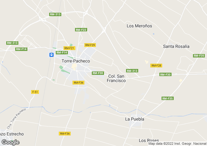 Map for Torre-Pacheco, Murcia