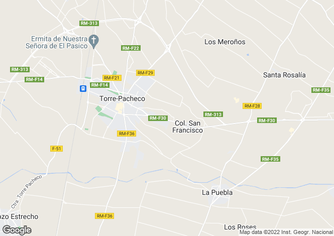Map for Murcia, Torre-Pacheco