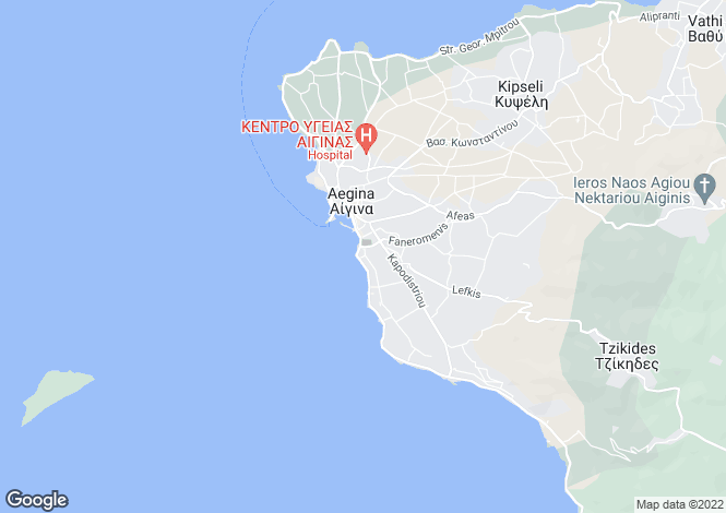 Map for Aegina, Saronic Gulf