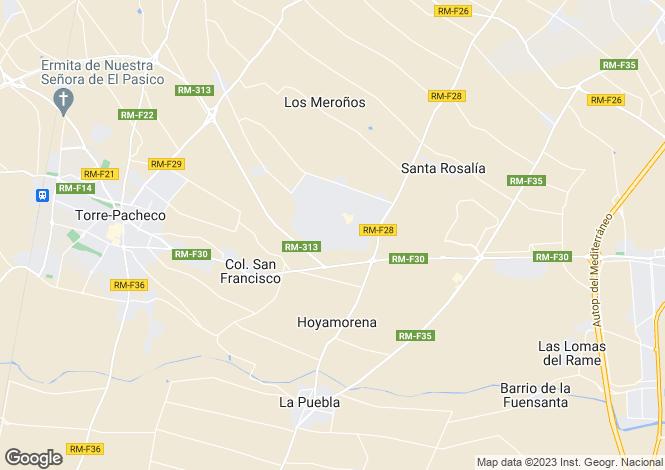Map for Murcia, Mar Menor Golf Resort