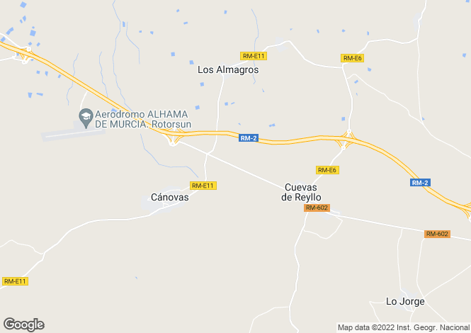 Map for Murcia, Fuente Álamo