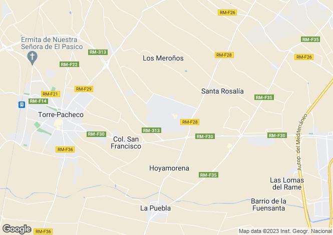Map for Murcia, Torre-Pacheco