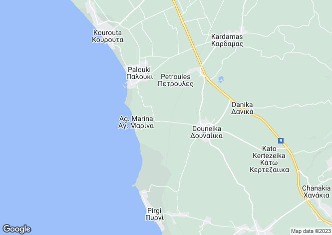 Map for Peloponnese, Elis, Dounaiika