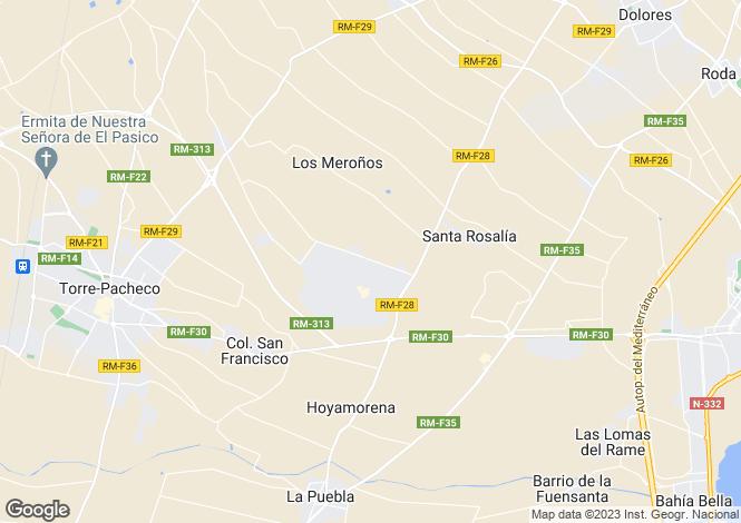 Map for Mar Menor Resort, Murcia, Spain