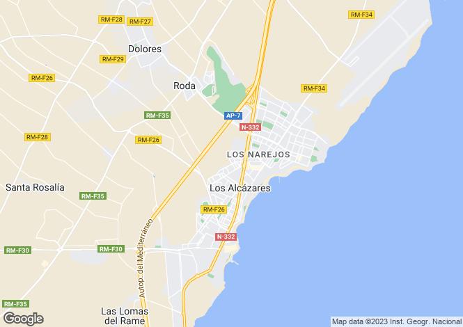 Map for Los Alcázares, Los Alcázares, Murcia