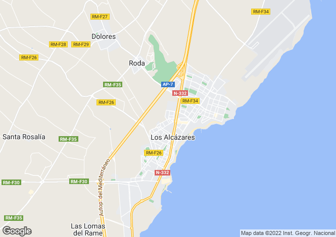 Map for Los alcazares, Murcia