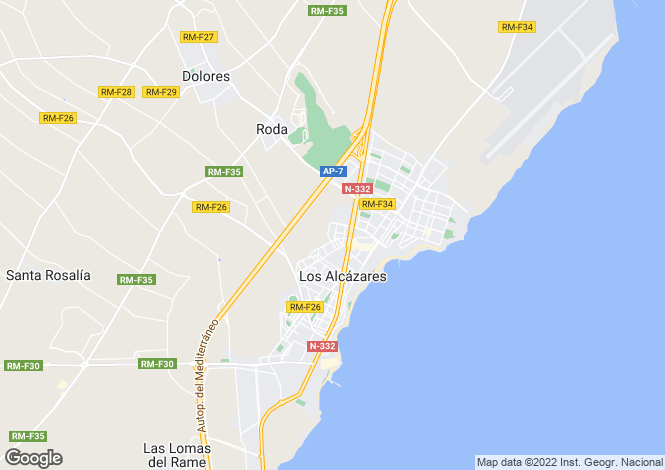 Map for Murcia, Los Alcázares
