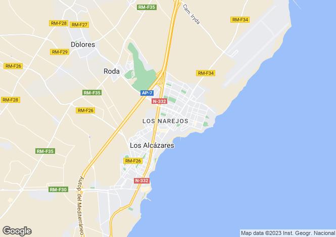 Map for Los Alcázares, Murcia