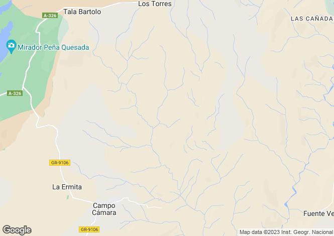 Map for Andalusia, Granada, Castril