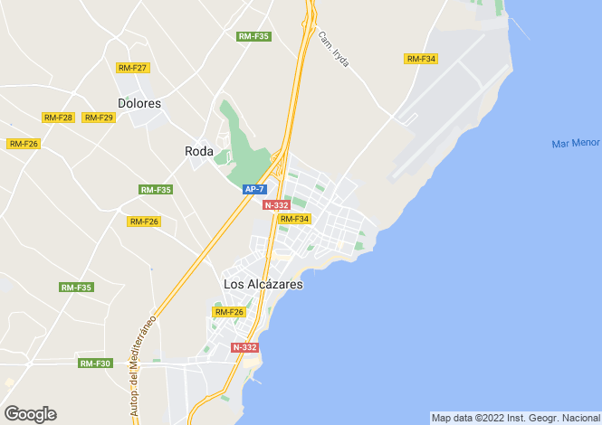 Map for Los Alcázares, Murcia