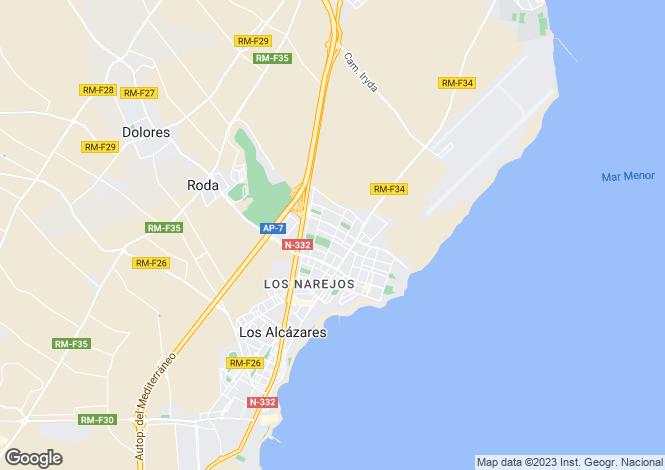 Map for Los alcazares, Murcia
