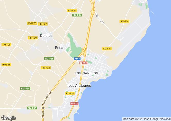 Map for Murcia, Los Alcázares
