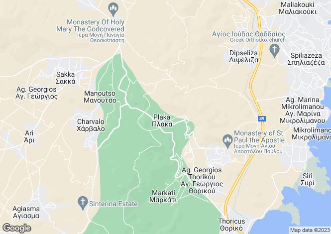 Map for Attica, Agios Konstantinos
