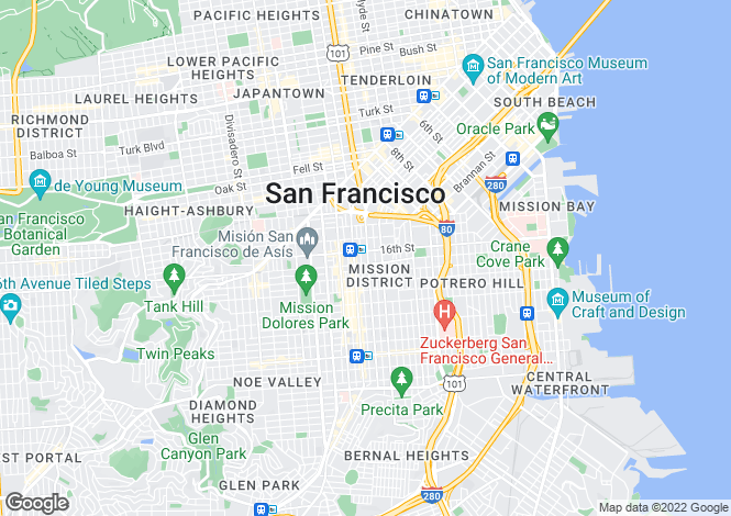 Map for USA - California, San Francisco County, San Francisco