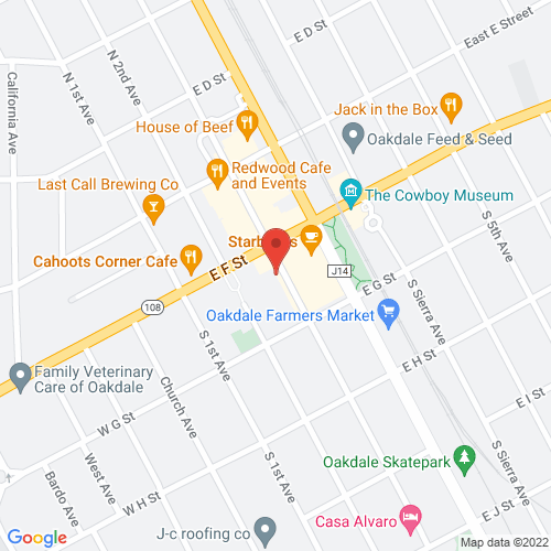 Map of 122 S 3rd Ave, Oakdale, CA 95361-3935
