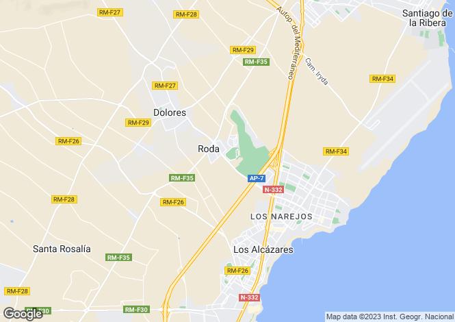 Map for Los Alcazares, Murcia, Spain
