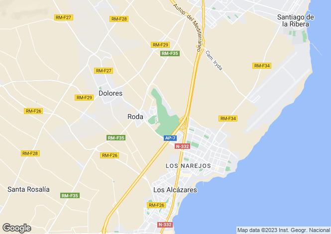 Map for Roda Golf, Murcia