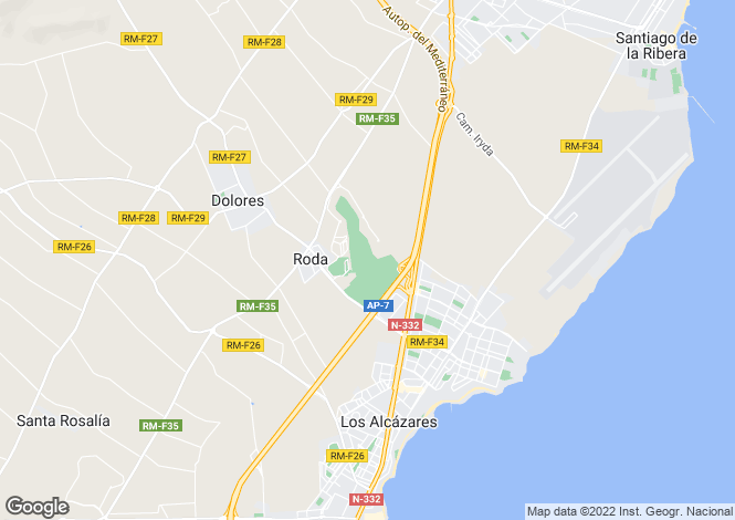 Map for Murcia, Roda Golf