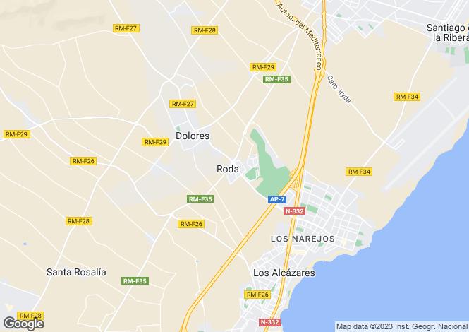 Map for Murcia, San Javier