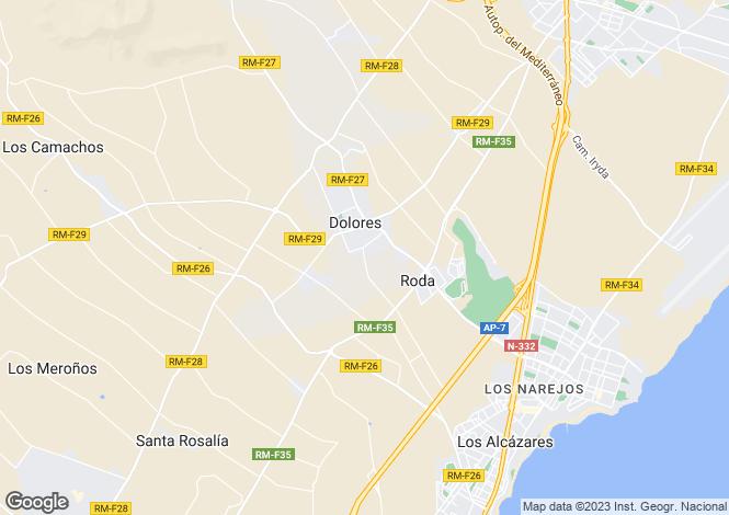 Map for Dolores De Pacheco, Murcia
