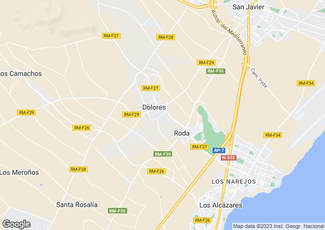 Map for C/ Buenos Aires  15. Residencial Villas Vela Latina II Nº3, Los Dolores, Murcia
