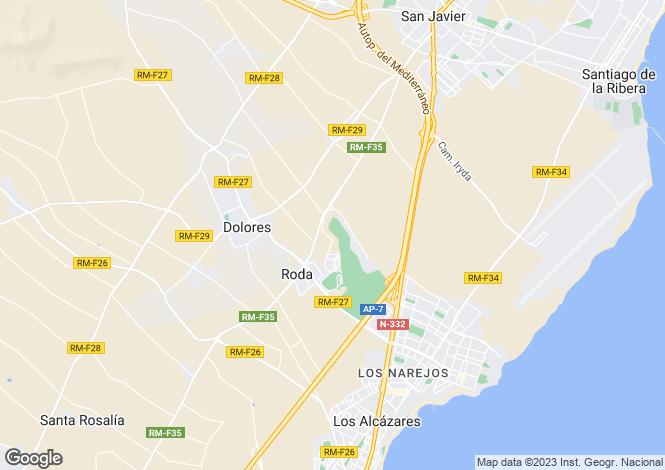 Map for Roda Golf, Murcia, Spain