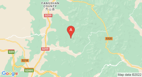 map of Mount Beiwudang (China)