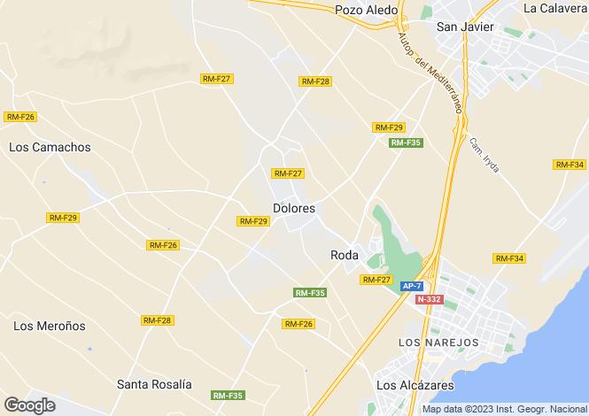 Map for Murcia, Dolores De Pacheco