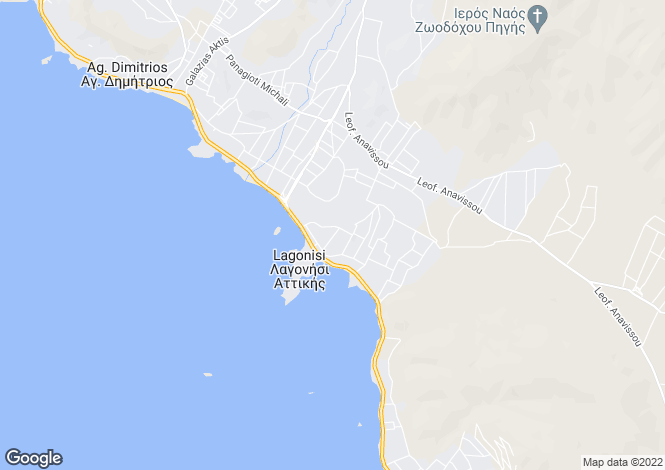 Map for Lagonissi, Attica