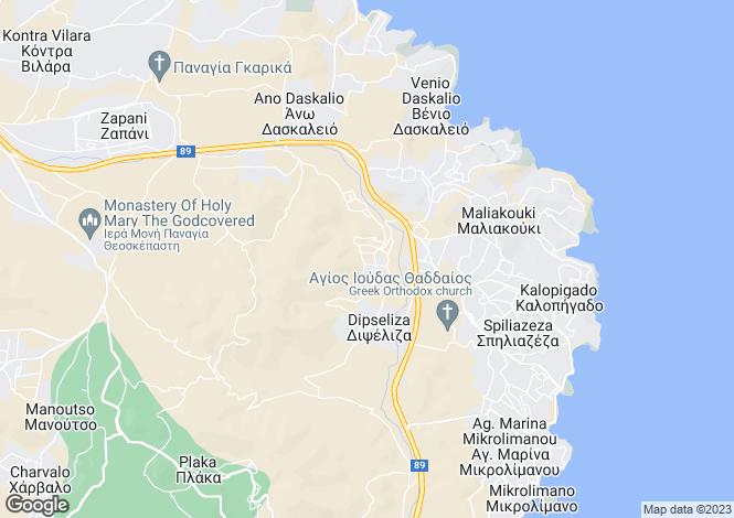 Map for Attica, Keratea