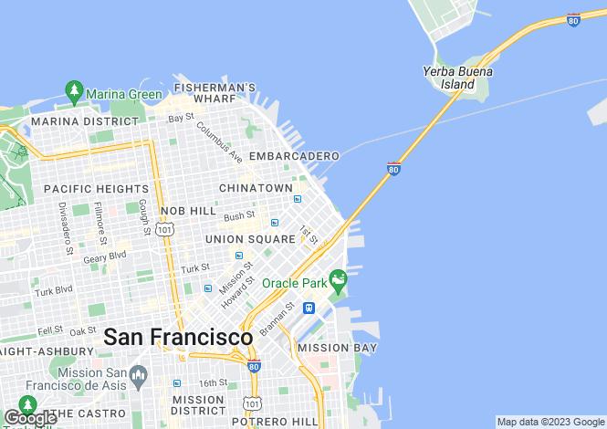 Map for California, San Francisco County, San Francisco