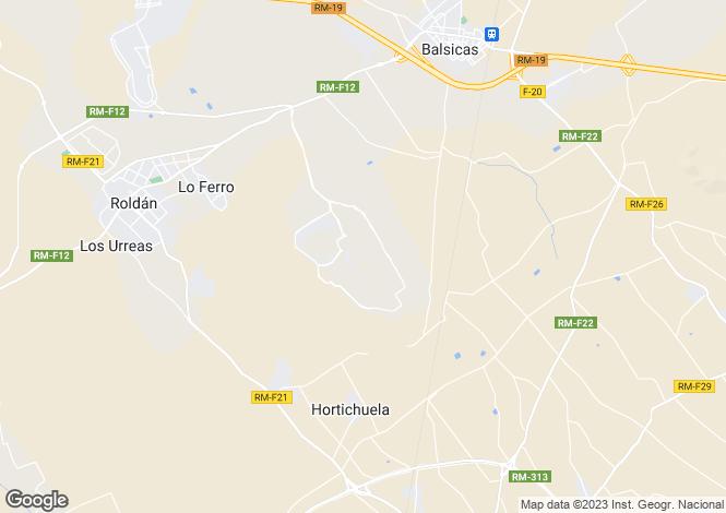 Map for Balsicas, Murcia