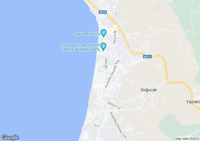 Map for Turkey - Mugla, Bodrum, Kadıkalesi