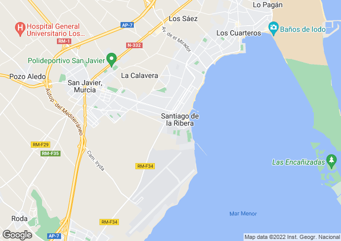 Map for 3 bedroom house in Santiago de la Ribera, Murcia, Spain