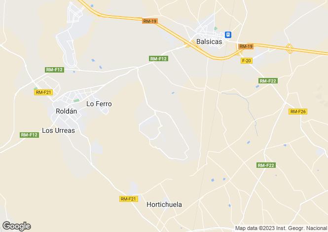 Map for RoldA?n,  Murcia, Spain