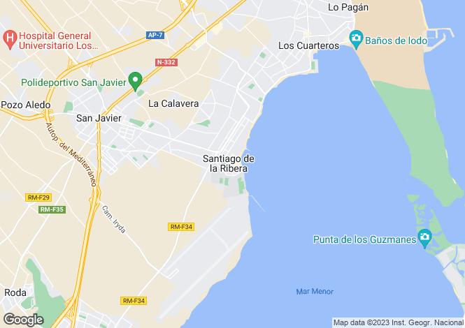 Map for Santiago de la Ribera, Murcia