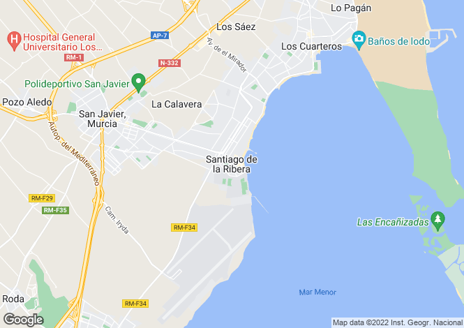 Map for Spain - Murcia, Santiago de la Ribera
