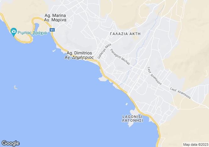Map for Attica, Agios Dimitrios