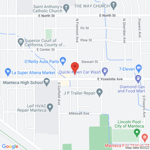 Map of 531 E. Yosemite Ave. Manteca, CA 95336