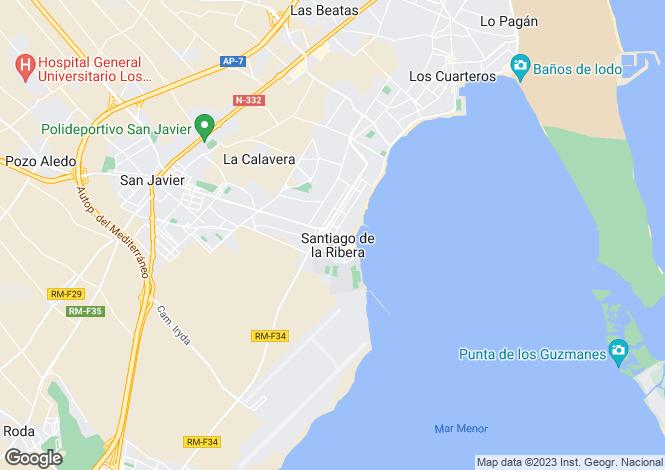 Map for Santiago de la Ribera, Murcia, Spain