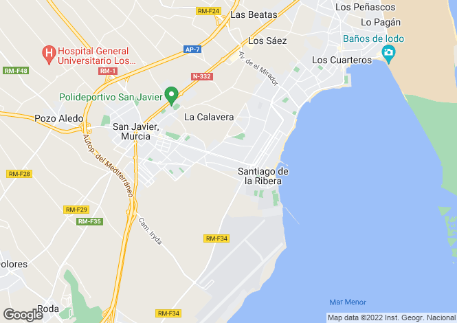 Map for Murcia, Santiago de la Ribera