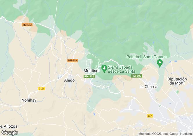 Map for Murcia, Aledo