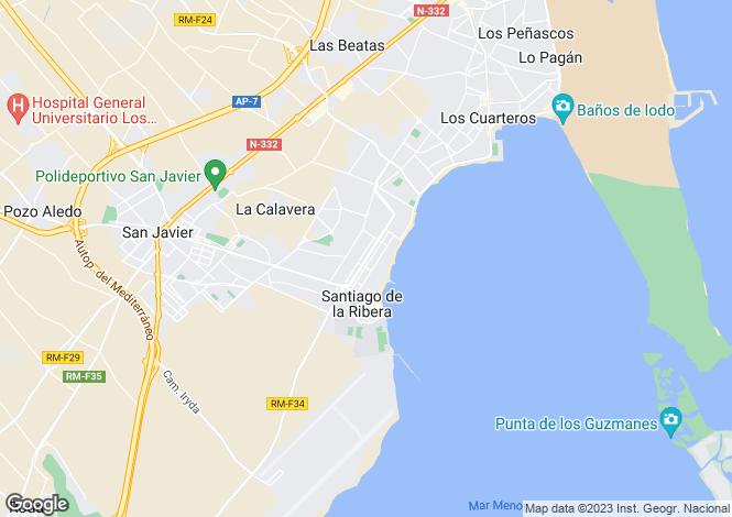 Map for Santiago de la Ribera, San Javier, Murcia