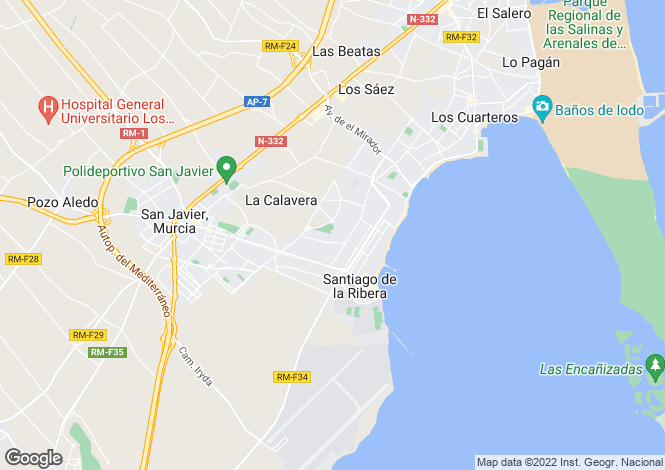 Map for San javier, Murcia